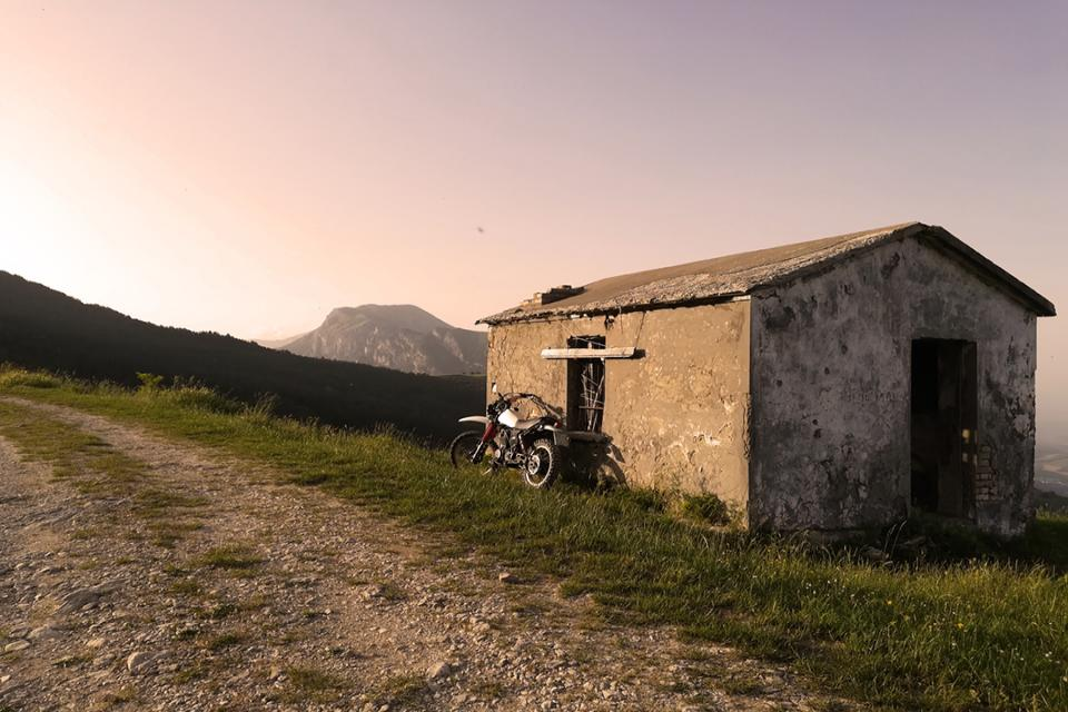 Monti Gemelli sunset , Central Appennines, Abruzzo, Italy.