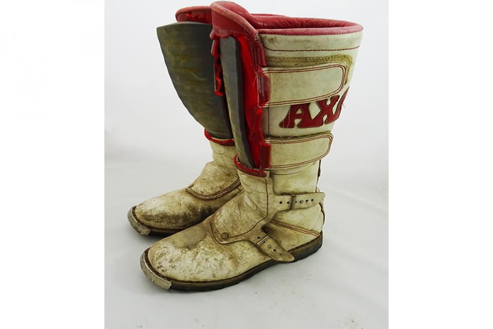 Repairing the history:  Axo mx boots