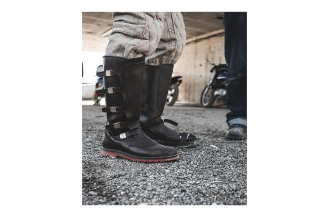 Dastra boots in collaboration with Age of Glory Garments.